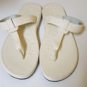 Rockport white sandals. Size 8